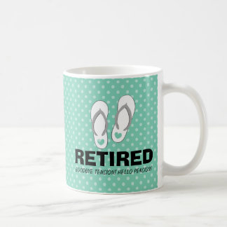 Goodbye tension Hello pension Funny retirement mug