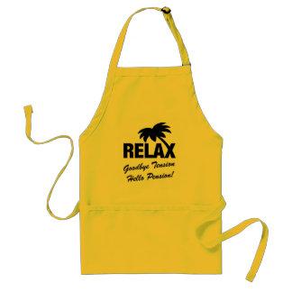 Goodbye tension hello pension retirement BBQ apron