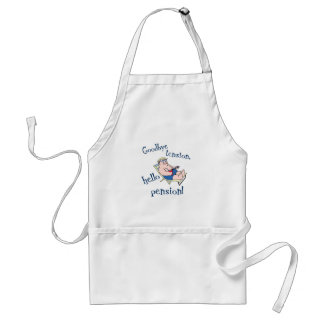 GOODBYE TENSION, HELLO PENSION! RETIREMENT GIFT ADULT APRON