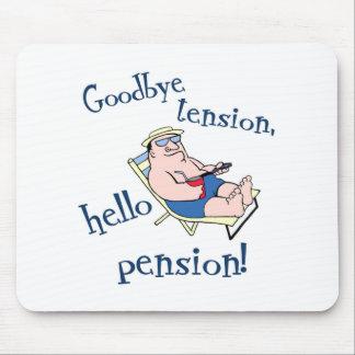 GOODBYE TENSION, HELLO PENSION! RETIREMENT GIFT MOUSEPADS