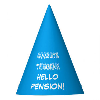 Goodbye tension hello pension retirement party hat