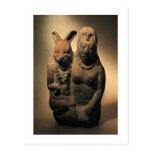 Goodess maya Ixchel y su compañero del conejo Postal