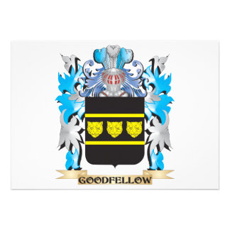 Goodfellow Coat of Arms - Family Crest Custom Announcement