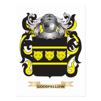 Goodfellow Coat of Arms (Family Crest) Postcard