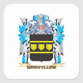 Goodfellow Coat of Arms - Family Crest Square Sticker