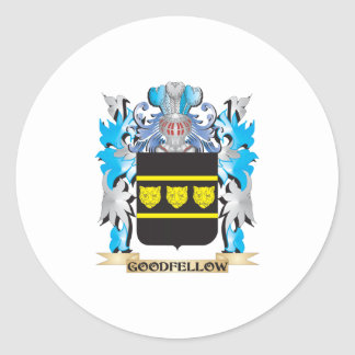 Goodfellow Coat of Arms - Family Crest Classic Round Sticker