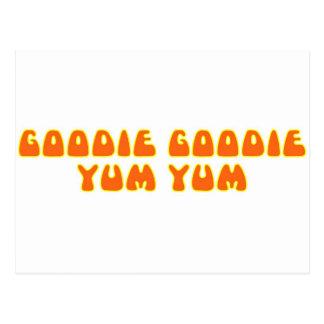 Goodie Goodie Yum Yum Tarjeta Postal