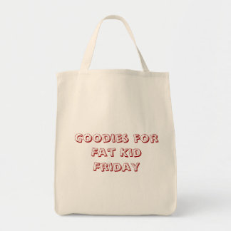 Goodies for Fat Kid Friday Canvas Bag