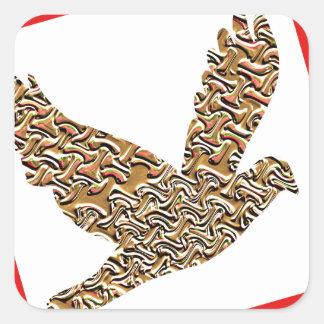 GoodLUCK Angel Bird Pet Kids Birthday Giveaway FUN Square Sticker