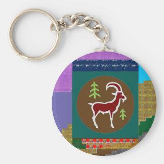 Goodluck animal de la astrología del zodiaco del llavero redondo tipo pin
