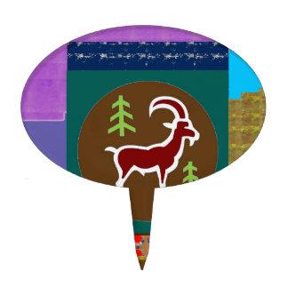 Goodluck animal de la astrología del zodiaco del s figuras de tarta