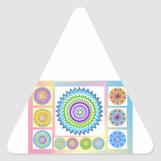 GoodLuck Charm Gifts : Chakra Collection Triangle Sticker