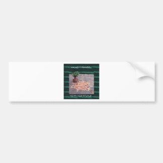 Goodluck Copper Vessel Rangoli Swistika Religious Bumper Sticker
