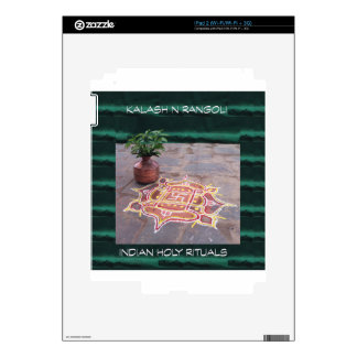Goodluck Copper Vessel Rangoli Swistika Religious iPad 2 Skins