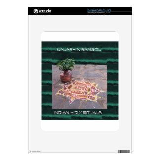Goodluck Copper Vessel Rangoli Swistika Religious iPad Decals