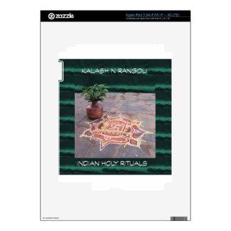 Goodluck Copper Vessel Rangoli Swistika Religious Skin For iPad 3