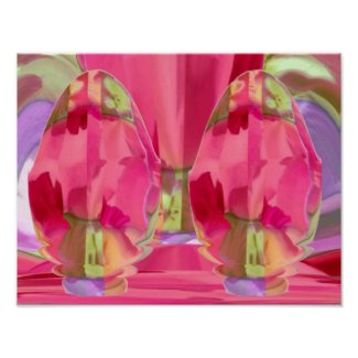 GoodLuck Crystal : RedRose PinkRose Petal Based print