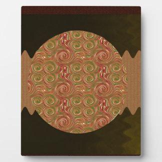 Goodluck Emblem Golden Embossed Waves Pattern Plaque