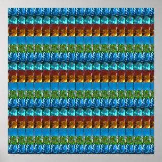 GoodLuck Energy Pattern Precious Stone Crystal FUN Poster