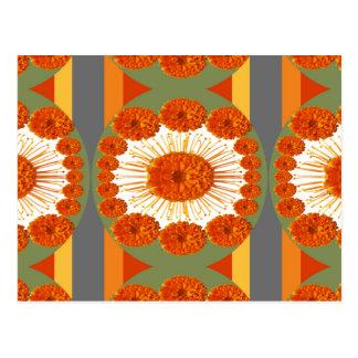 Goodluck Gesture : Flower Marigold Beauty Postcard
