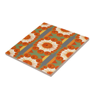 Goodluck Gesture : Flower Marigold Beauty Tile