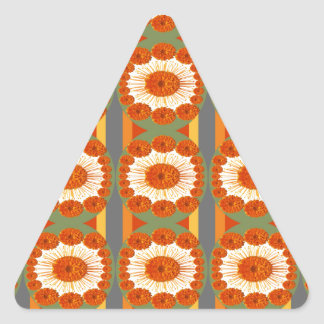 Goodluck Gesture : Flower Marigold Beauty Triangle Sticker