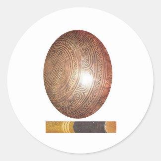 GoodLuck GIFTS : Tibetan Singing Bowl Round Stickers