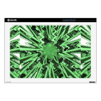 Goodluck Green Sparkle star modern abstract art Laptop Skin