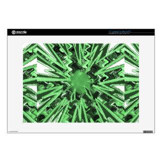 "Goodluck Green Sparkle star modern abstract art Skin For 15"" Laptop"