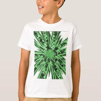 Goodluck Green Sparkle star modern abstract art T-Shirt