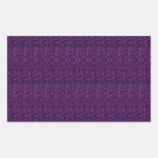Goodluck Holy Purple Crystal Tiles add TEXT IMAGE Rectangular Sticker