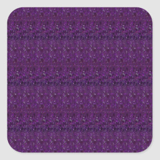 Goodluck Holy Purple Crystal Tiles add TEXT IMAGE Square Sticker