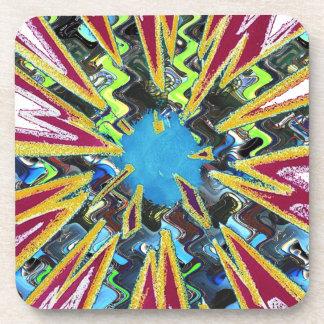 Goodluck modern abstract art sparkling star shine drink coaster
