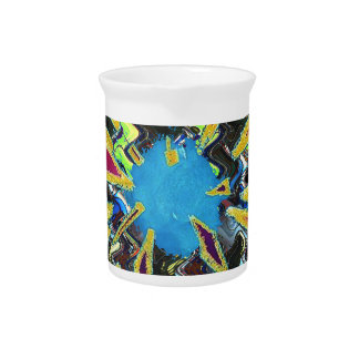 Goodluck modern abstract art sparkling star shine drink pitcher