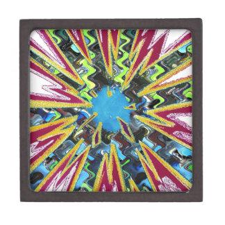 Goodluck modern abstract art sparkling star shine gift box