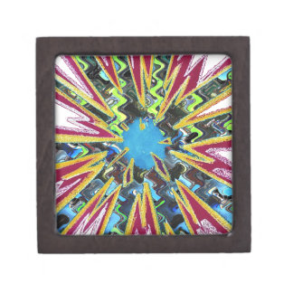 Goodluck modern abstract art sparkling star shine keepsake box