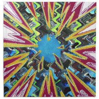 Goodluck modern abstract art sparkling star shine napkin