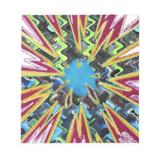 Goodluck modern abstract art sparkling star shine notepad