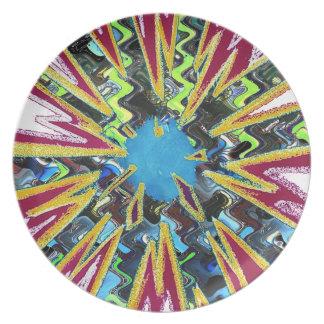 Goodluck modern abstract art sparkling star shine plate