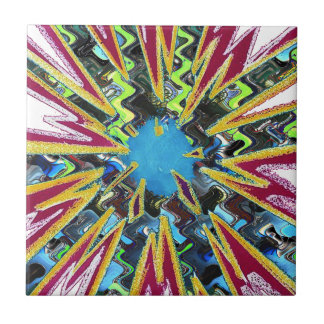 Goodluck modern abstract art sparkling star shine tile
