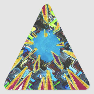 Goodluck modern abstract art sparkling star shine triangle sticker