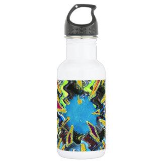Goodluck modern abstract art sparkling star shine water bottle