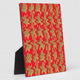 Goodluck Red and Gold Chinese Pattern Plaque
