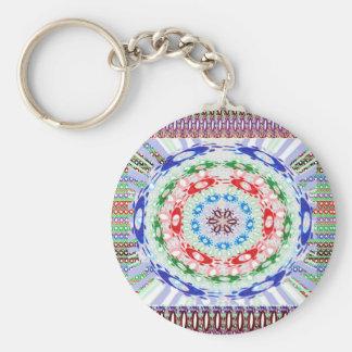 Goodluck Round Chakra Healing Art Basic Round Button Keychain