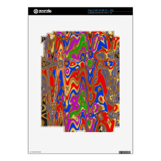 Goodluck Vertical Energy Waves Modern Abstract Art Decals For The iPad 2