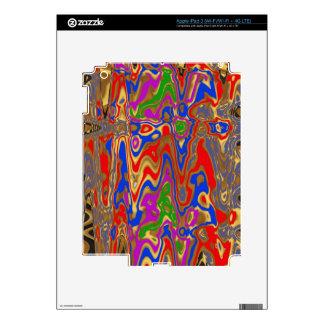 Goodluck Vertical Energy Waves Modern Abstract Art iPad 3 Decals
