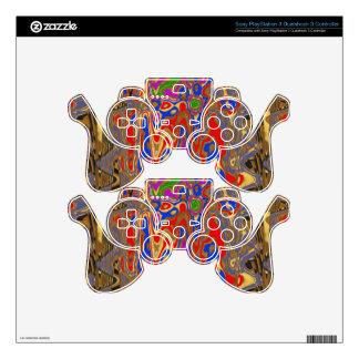 Goodluck Vertical Energy Waves Modern Abstract Art PS3 Controller Skin