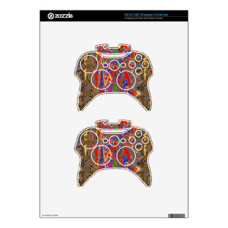 Goodluck Vertical Energy Waves Modern Abstract Art Xbox 360 Controller Decal