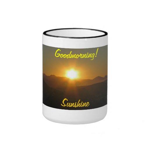 ¡Goodmorning! sol Taza De Dos Colores