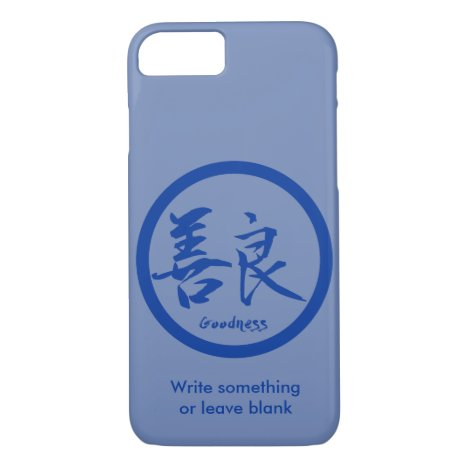 Goodness Blue Kanji  Kamon | iPhone 7 cases
